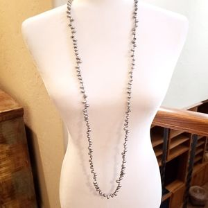 Charming Charlie | NWT Long Silver Bead Necklace